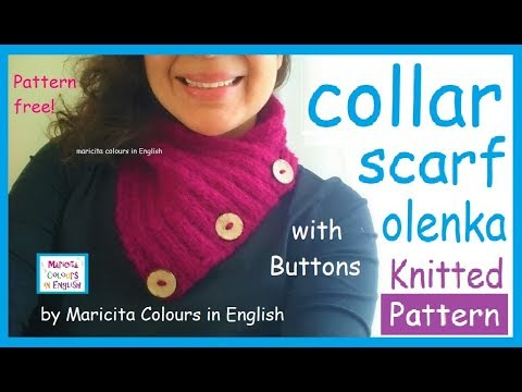 Knitting Patterns Arm Knitted Collar Scarf Olenka Pattern Free By
