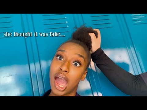 WEARING MY NATURAL HAIR TO SCHOOL FOR THE FIRST TIME! | Coco Chinelo