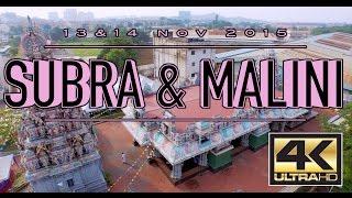Subra & Malini Hindu Wedding Aerial Highlights [4K]