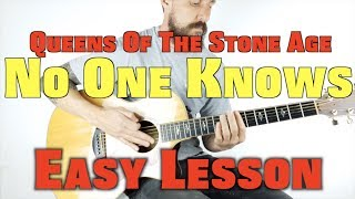 How to Play Queens Of The Stone Age No One Knows Acoustic