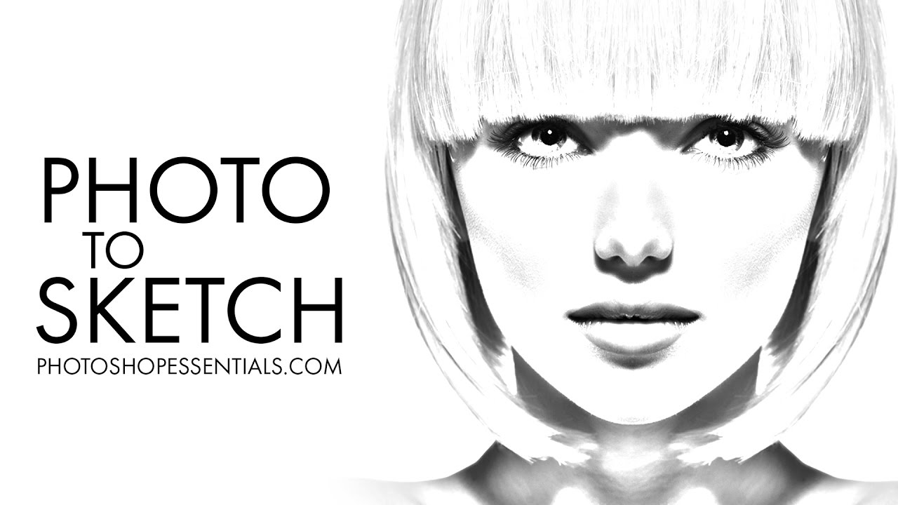 Photoshop photo to pencil drawing and sketch complete guide