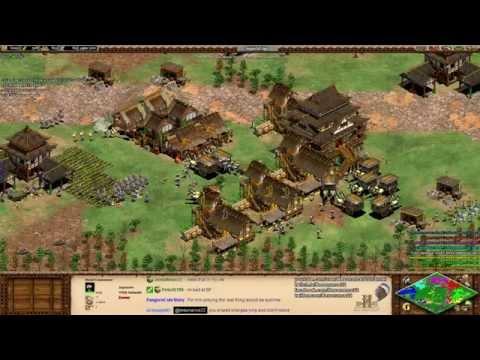 Aoe2 HD: 4v4 Black Forest (Japanese, Mass Samurai)