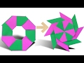 How To Make an Origami Transforming Ninja Star Step by Step Paper Ninja Star Origami VTL