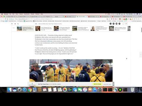 Northern California Fire Fighter Can't Keep Up With The Flames
