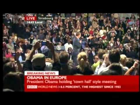 Obama in Europe Meets the People 3 of 5 - BBC World News Report
