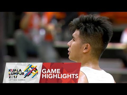 Basketball 🏀 Men's Semi-final Game Highlights Philippines vs Singapore | 29th SEA Games 2017