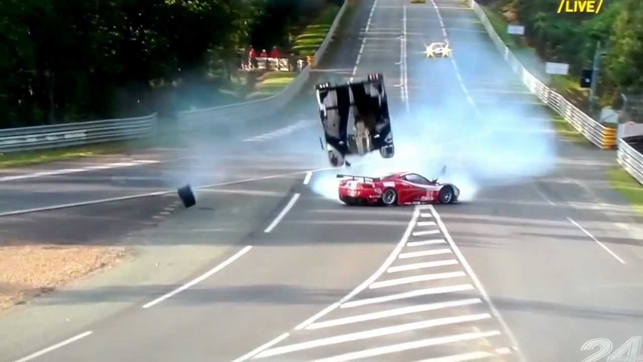 big crash 24h le mans 2012 davidson flying through air toyota 8 youtube. Black Bedroom Furniture Sets. Home Design Ideas