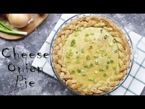 Cheese Onion Pie Recipe | Simple Cheese & Onion Pie Recipe