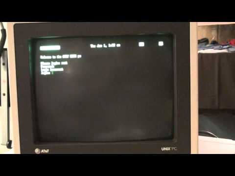 AT&T UNIX PC 7300 boot up