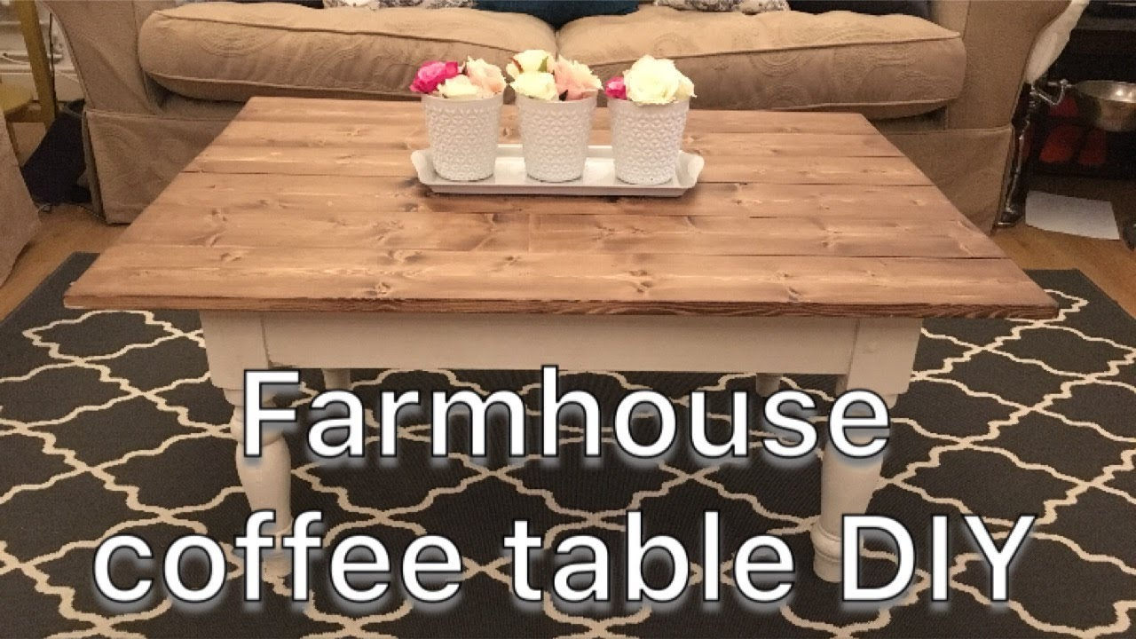 Farmhouse Coffee Table Diy Upcycle Youtube