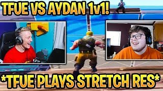 Tfue Tries STRETCH RESOLUTION! & 1v1's GHOST AYDAN In Creative! Fortnite Battle Royale Moments