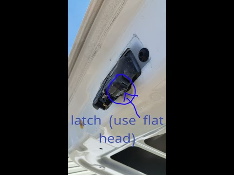manually open a 2010-2017 fiat 500 trunk/hatchback - YouTube
