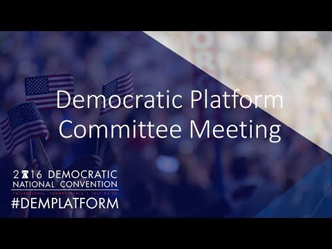Democratic Platform Committee Meeting - Orlando - Day 1