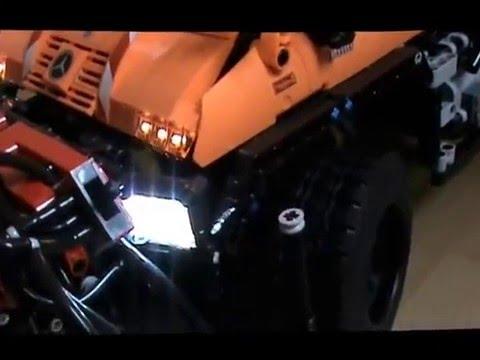lego technic video nr 1 unimog u400 8110 mit komplett led beleuchtung youtube. Black Bedroom Furniture Sets. Home Design Ideas