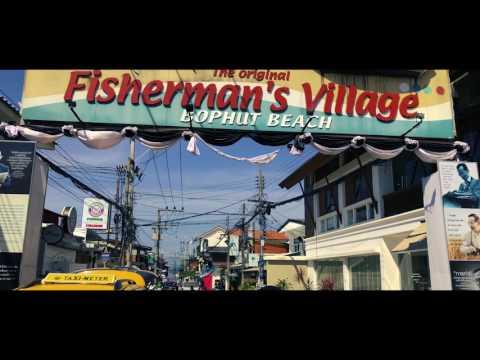Fishermans Village Bophut Beach Chaweng Koh Samui Thailand Drone