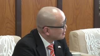 愛媛オレンジバイキングスの知事表敬訪問