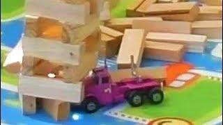 CARS VS JENGA TOWER SMALL CARS CRASH