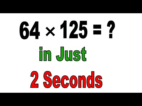 Easy Math Trick to multiply with 125