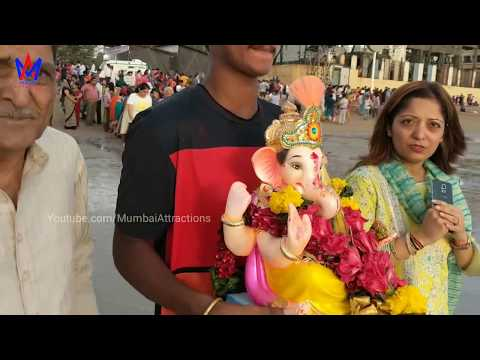 Ganpati Visarjan 2018 at Juhu Beach | Ganesh Chaturthi | Mumbai Attractions