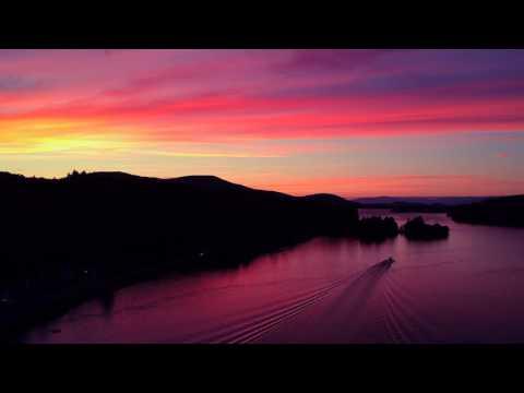 DRONE FLIGHT // Incredible Sunset Colors At Alton Bay // Lake Winnipesaukee // New Hampshire