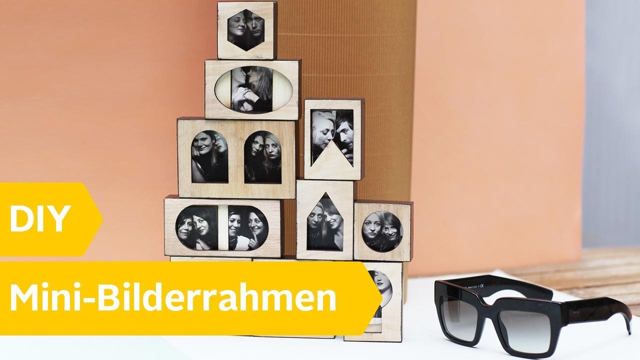 DIY: Bilderrahmen aus Holz zum Selberbauen - YouTube