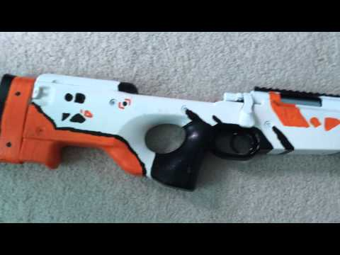 Cs go awp asiimov airsoft sniper update 3 finished - Awp asiimov css ...