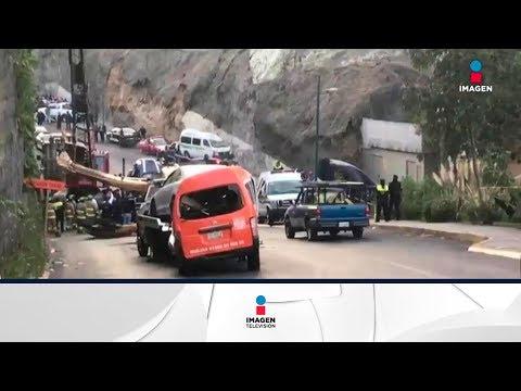 Revelan video de caída de retroexcavadora, dos personas mueren | Noticias con Yuriria Sierra