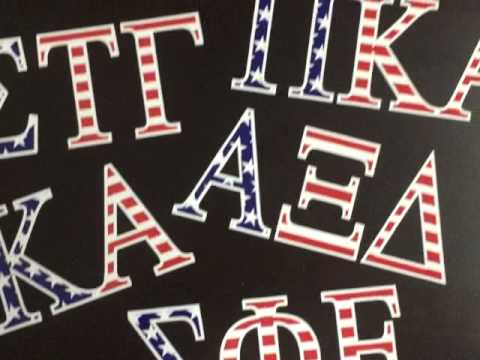 greekgear american flag greek letter stickers