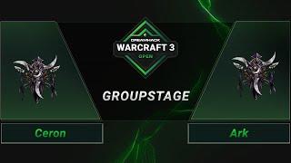 WC3 - Ceron vs. Ark - Groupstage - DreamHack WarCraft 3 Open: Summer 2021 - America