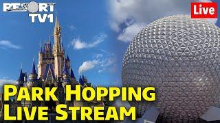 🔴Live: Park Hopping at Magic Kingdom \u0026 Epcot in 1080p - Walt Disney World Live Stream