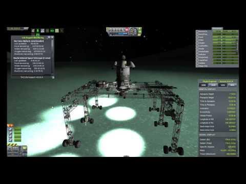 Late Night Kerbal - Sky Crane Landing Operations - 1 / 2
