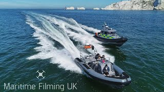 Parker RIBs Baltic Cruiser for Kent Police Search and Marine Unit - 4K Aerial Demo Video!!