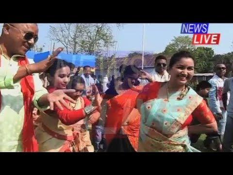 Batadrava MLA Angoorlata Deka dancing to the tunes of a Bihu song