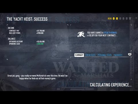 Payday 2 - Yacht Heist Solo Stealth |