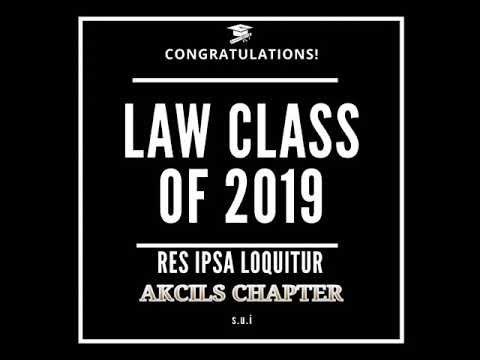Law students song, class of 2019  legal Kano