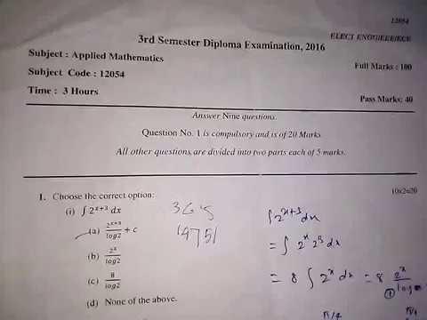 Diploma 3rd SEM ECE questions paper