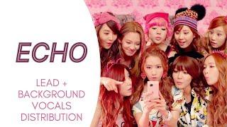 Girls' Generation - ECHO (Lead + Background Vocals Distribution)