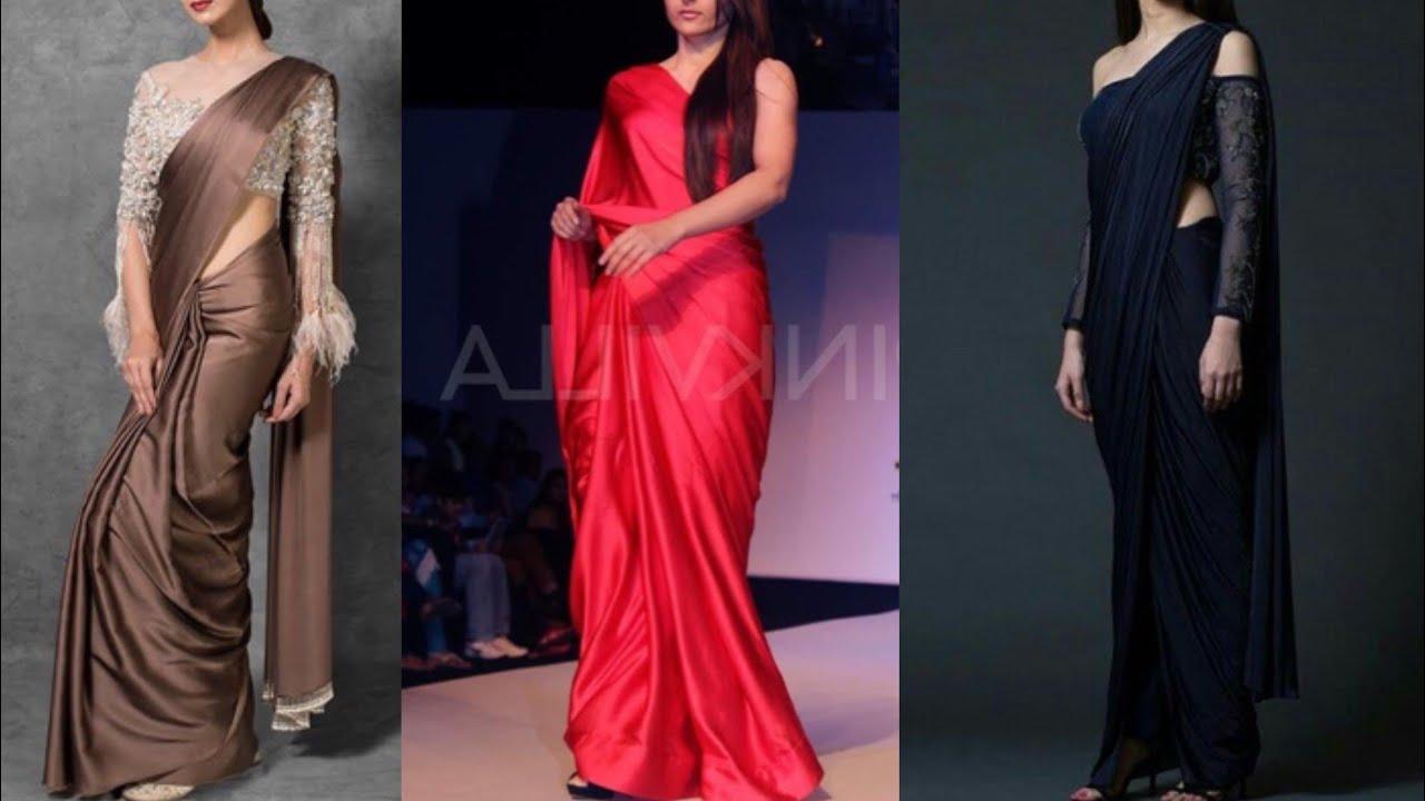 1880a2d5ce6 New plain. saree with designer blouse design ideas for wedding ...