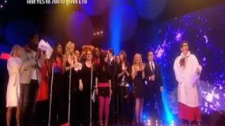 Celebrity choir sing Take That classic to wrap up Red Nose Day 2011