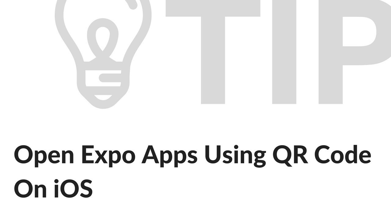 Opening Expo Apps Using QR Code On iOS Devices
