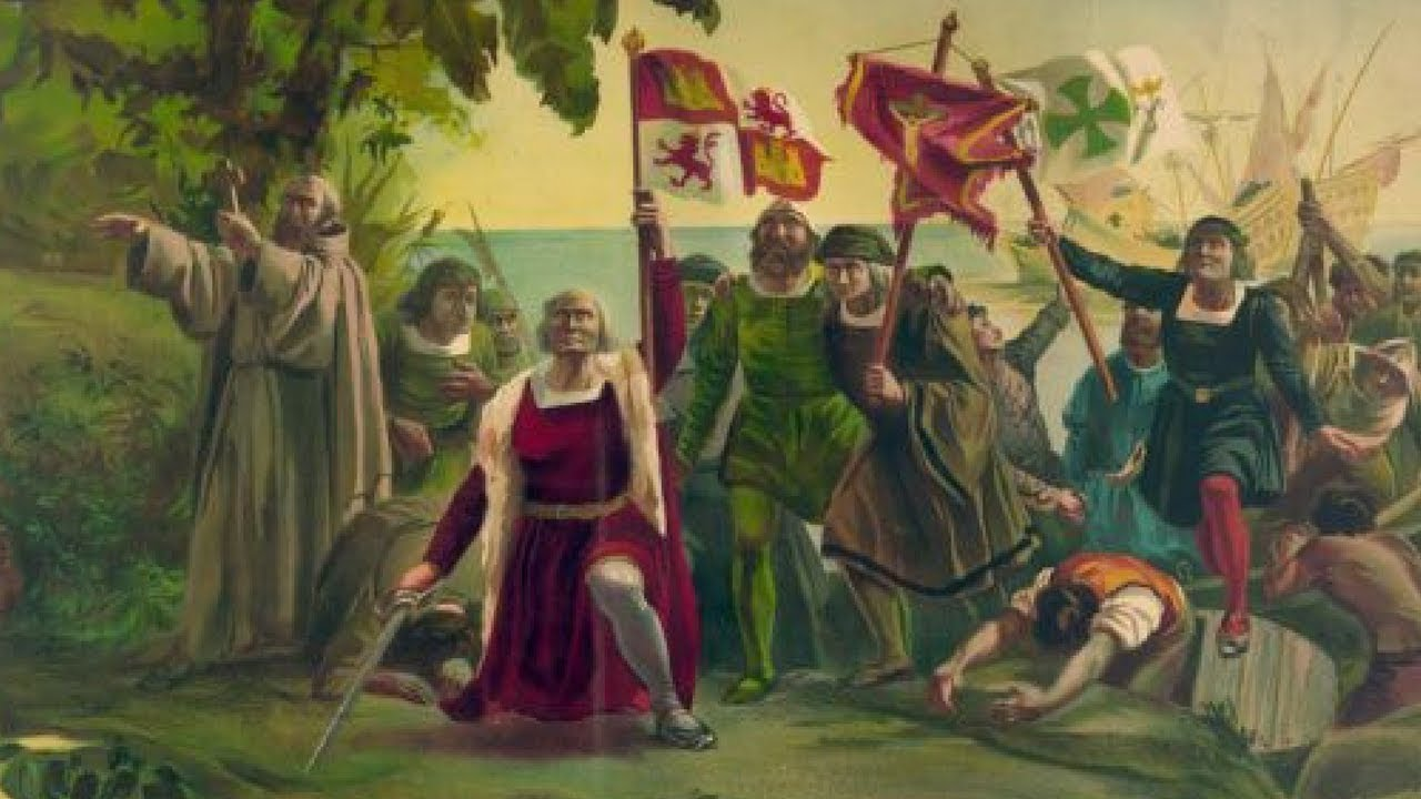 an analysis of the discovery of the america by christopher columbus in 1492 On august 3, 1492, columbus set sail from palos, spain, with three small ships, the santa maria, the pinta, and the nina on october 12, the expedition reached land, probably watling island in the.