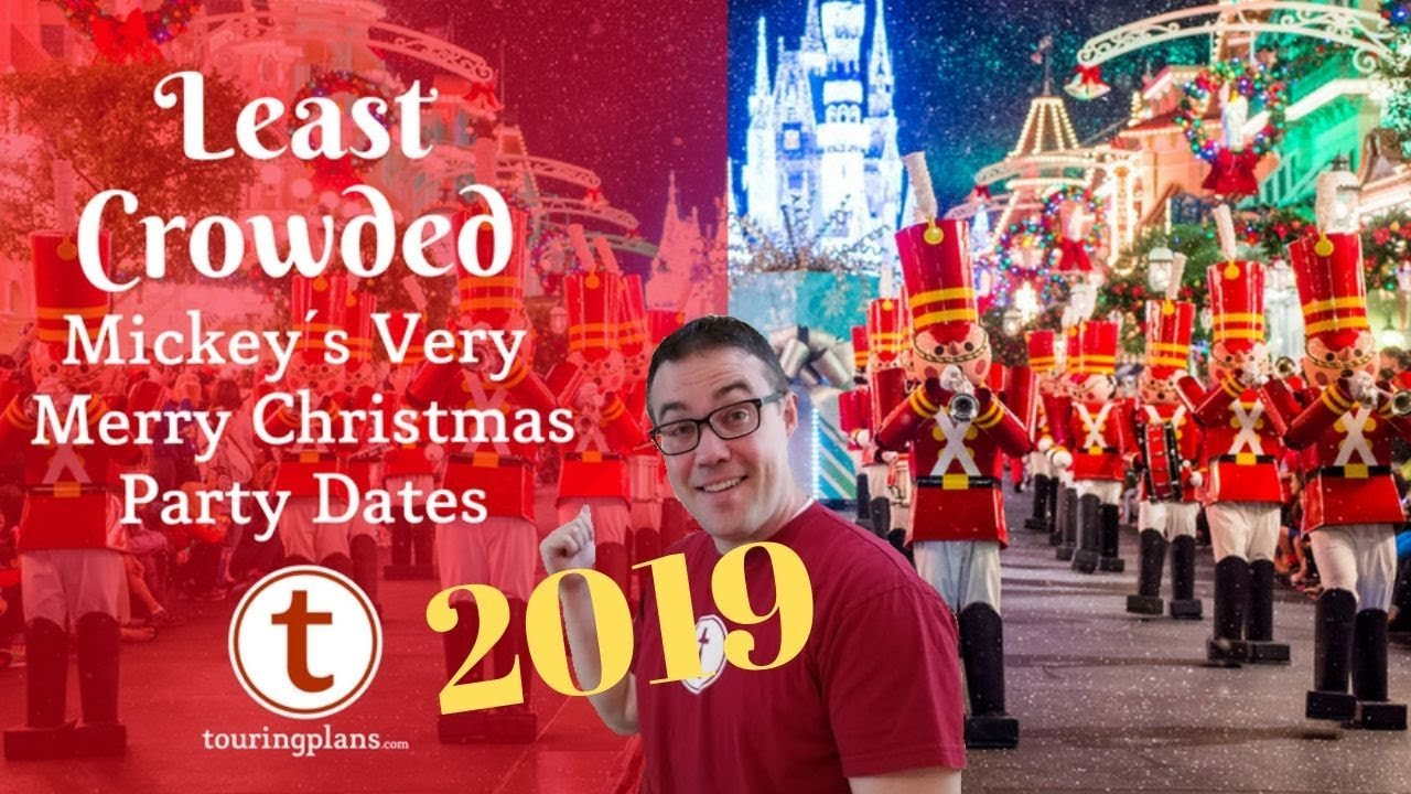 Mickeys Very Merry Christmas Party 2019.Finding The Least Crowded Mickey S Very Merry Christmas Party