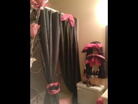 pink and black bathroom for a Goddess