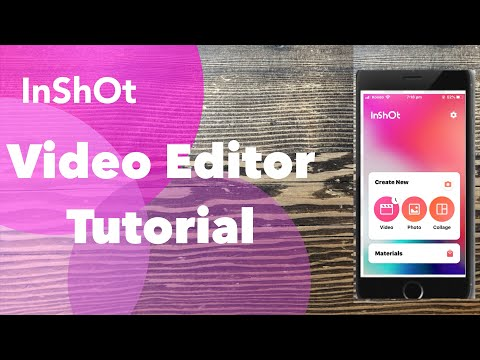 InShot Video Editor App Tutorial 6 How to Remove Audio From a Video Clip [English]