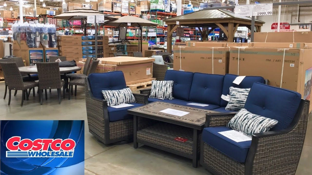 COSTCO PATIO FURNITURE OUTDOOR SOFAS CHAIRS HOME DECOR SHOP WITH ME  SHOPPING STORE WALK THROUGH