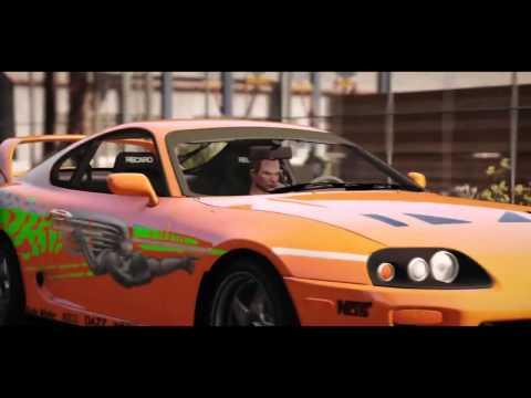 GTA 5 Сцена гонки из фильма Fast and the Furious Форсаж