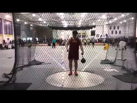 Brian Lee weight throw 17.17m