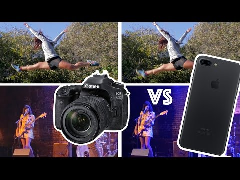 Canon 80D DSLR vs iPhone 7 plus for VIDEO tests - Do you still need a DSLR?
