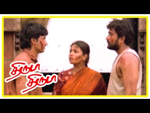 Thiruda Thiruda movie Climax scene | Container containing money recovered | End Credits