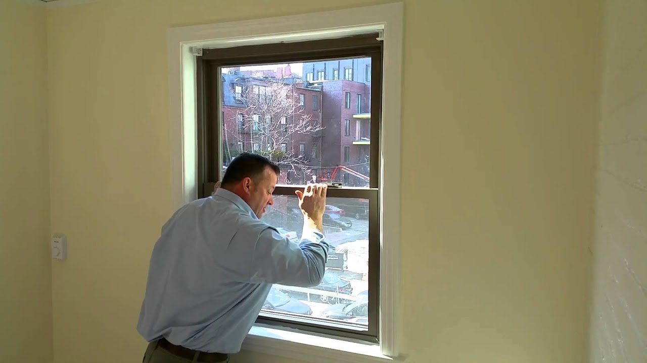 How to Securely Lock a Double Hung Window - YouTube